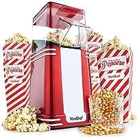 VonShef Retro Vintage Hot Air Popcorn Maker with 6 Popcorn Boxes