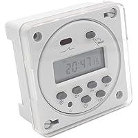 Heschen   Temporizzatore digitale elettronico LCD con programmi giornalieri  CN101A AC  200 230 V  16 nbsp A  SPST con copertura impermeabile CE  colore  bianco