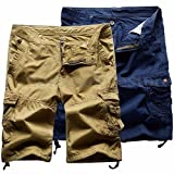 #4: Pack of 2 Mens Cotton Cargo Shorts