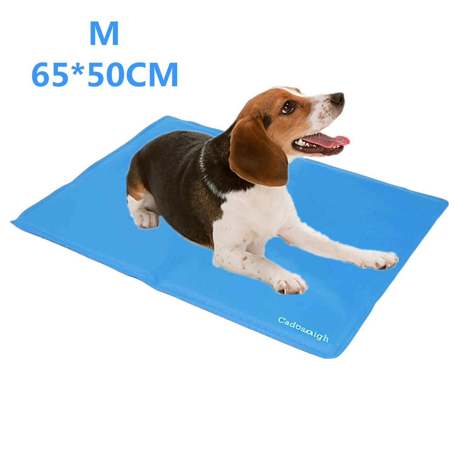 Cadosoigh Dog Cooling Mat 90x50cm Durable Pet Cool Mat Non Toxic Gel Self Cooling Pad Great For Dogs Cats In Hot Summer Sky Blue 65 50cm
