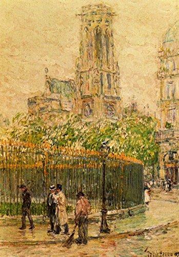 Das Museum Outlet–St. Germain l 'Auxerrois (Paris), 1897–Leinwanddruck Online kaufen (76,2x 101,6cm)