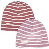 LACOFIA 2 Piezas Gorro Beanie para bebé Sombreros de Punto Calientes para bebés niñas y niños Gorra de algodón 100% súper Sua