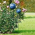 Pötschke Ambiente Rosenkugel mit Stab, blau marmoriert, 20 cm von Pötschke Ambiente auf Du und dein Garten