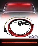 FABTEC 90CM Rear Windshield Brake Strip LED Warning Light for All Cars