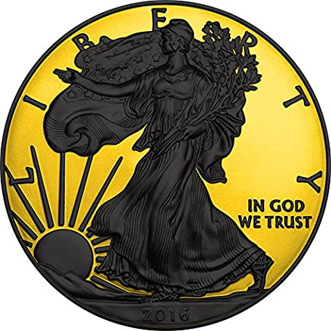 WALKING LIBERTY Gold Shadows 1 Oz Moneta Argento 1$ US Mint 2016 Monete (1 Oz Argento Bu Bu Coin)