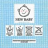 Unbekannt Serviette Servietten New Baby neues Baby Junge blau zur Geburt 33x33 cm 20 Stück 3-lagig für Babyparty (Auswahl Serviette blau)