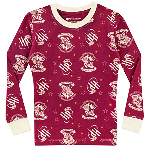 61vM8Ia0wmL - Harry Potter Pijama para Niñas Hogwarts Ajuste Ceñido Multicolor 12-13 Años