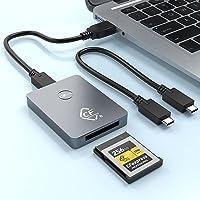 CFexpress Kartenleser, Rocketek Typ B USB 3.1 Gen 2, 10 Gbit/s, Lesegerät, tragbarer Speicherkartenadapter aus Aluminium…