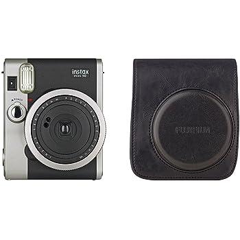 Fujifilm - Instax Mini 90 NEO Classic - Appareil Photo à Impression Instantanée - Noir + Housse