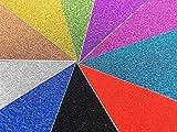10 Blatt Klebefolie Glitzer Selbstklebende Dekofolie A4 Farbige Bastelfolie...