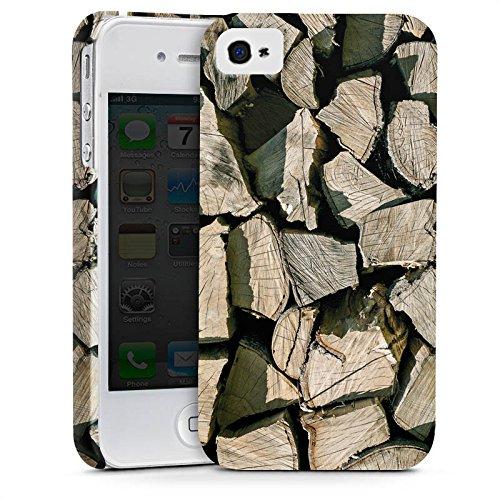 Apple iPhone X Silikon Hülle Case Schutzhülle Holz Look Holzscheite Baum Premium Case glänzend