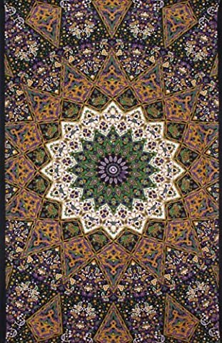 Sunshine Joy? 3D Purple India Star Tapestry - Hanging Wall Art - Beach Wrap - Amazing 3-D Effects (85X100 inches) by Sunshine Joy
