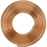 Soft Copper Pipe Copper Pancake Coil, Outer Diameter - 1/4 inch (6.35mm) & Wall Thickness - 25 swg, Pack of 1 pcs