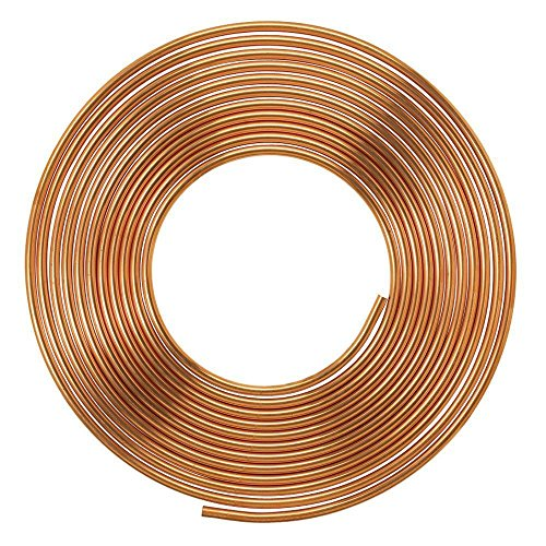 Soft Copper Pipe Copper Pancake Coil, Outer Diameter - 1/4 inch (6.35mm) & Wall Thickness - 24 swg, Pack of 1 pcs