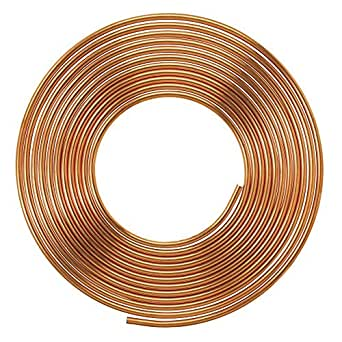 Soft Copper Pipe Copper Pancake Coil, Outer Diameter - 1/2 inch (12.7mm) & Wall Thickness - 21 swg, Pack of 1 pcs