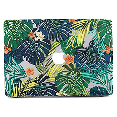 MacBook Air 11 Hülle, L2W Matte Print Tropical Palm Blätter Muster Beschichtet PC Hard Schutzhülle Cover für Macbook Air 11