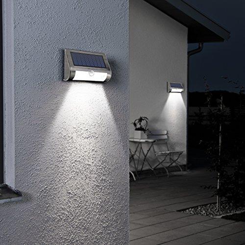 Albrillo Solarleuchten mit Bewegungsmelder, 2er-Pack, 18 LEDs in Kaltweiß - 5