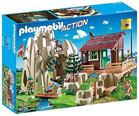 PLAYMOBIL 9126 Action - Rocher d'escalade avec espace d'accueil