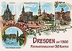 Dresden um 1900: Postkartenbuch mit 3...