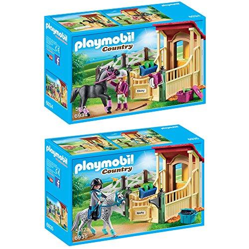 "Preisvergleich Produktbild PLAYMOBIL® Country 2er Set 6934 6935 Pferdebox ""Araber"" + Pferdebox ""Appaloosa"""