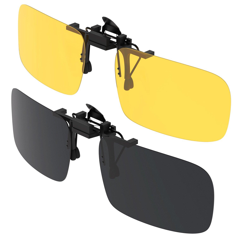b022cd4ac917d noche visión Gafas Gafas Gritin de con unidadesdía 2 clip sol FzwFS0q8