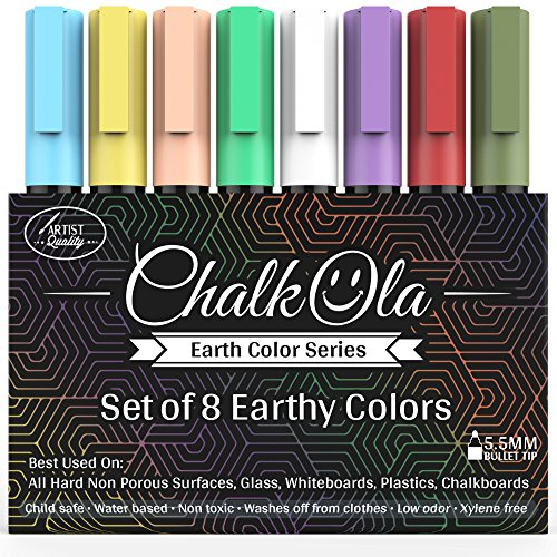 chalk-pens-pack-of-8-earth-colour-markers-use-on-whiteboard-chalkboard-window-blackboard-bistros-gla