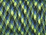 100ft 550 Paracord Parachute Cord Lanyard Mil Spec Type III 7 Strand Core (Blue+Green Camo)