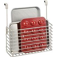 mDesign étagère à suspendre – petite étagère pratique pour placard de cuisine – accessoire de rangement pour planche à…