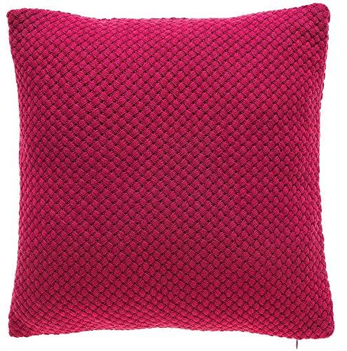 Tina 's Home Knit Dekorativer Überwurf-Kissen | Couch Sofa Bett Home Kitchen Überwurf Kissen | Daunen Feder Füllung Dekorativer Überwurf-Kissen 18x 18von 18 x 18 Hot Pink (Kissen Pink Hot Dekorative)