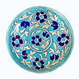 #6: Aurea Blue Pottery Decorative Wall Plate (6