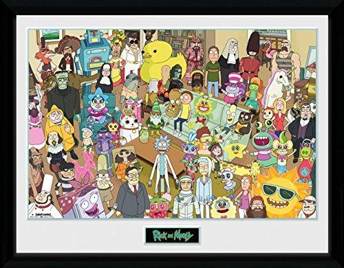 d Morty - Freunde Und Andere Parasiten, Alle Charaktere Gerahmtes Poster Für Fans Und Sammler 40 x 30 cm (Charakter-poster)