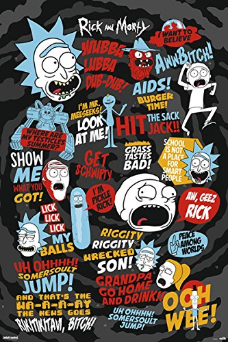 Close Up Póster Rick and Morty - Quotes 3 (61cm x 91,5cm)