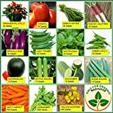 #1: Only For Organic Combo of Fifteen Summer Kitchen Garden Hybrid Seeds ,15 Pieces