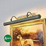 Lampenwelt Wandleuchte dimmbar in Bronze aus Metall u.a. für Wohnzimmer