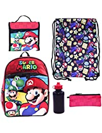 Super Mario 5-Piece Backpack Set By Accessory Innovations