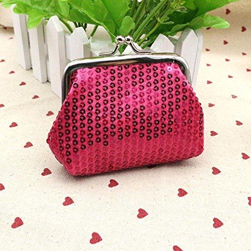 Bluestercool Frauen Mode kleine Pailletten Brieftasche/Coin Handtasche/Clutch Handtasche/Tasche Hot Pink