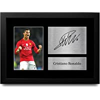 HWC Trading FR A4 Cristiano Ronaldo Manchester United Man Utd Gifts Printed Signed Autograph Picture for Football Fans…