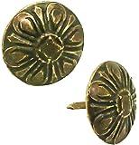 maDDma ® 100 Polsternagel Ziernagel, Vintage 16x15mm, Bronze, antik