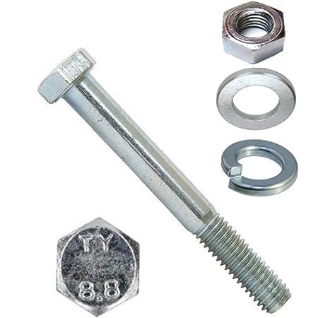 - Maschinenschrauben - M8x90 - Stoppmuttern 5 St/ück SC-Normteile/® Sechskantschrauben mit Schaft und Sicherungsmuttern Edelstahl A2 V2A DIN 931 // DIN 985 - SC931 // SC985