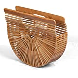 Wellouis Damen Handtasche aus Bambus, L