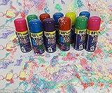 Markenlos 12 Stück Party Luftschlangen Spray Karneval Geburtstag Hochzeit feiern Dekorieren versch. Farbe Schlangenspra