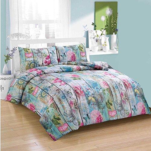 Reedax Einzigartige Designs Bettbezug mit Kissen Fall Bettbezug Bettwäsche-Set alle Größen, Anna, Doppelbett