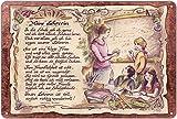 Geschenk Lehrerin Pädagogin Blechschild 30 x 20 cm