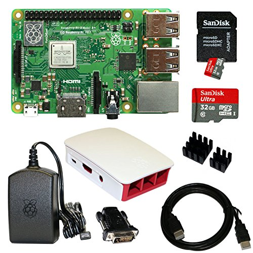 Raspberry Pi 3 Model B+ Bundle XXL 32GB (schwarz/weiß) (Pi Model B Bundle Raspberry)
