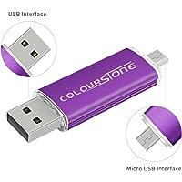 Colourstone Clé USB 2.0 Violet 32Go Micro Mémoire Flash Drive Originale OTG Type-C Stick pour Android Smartphones Tablettes PC