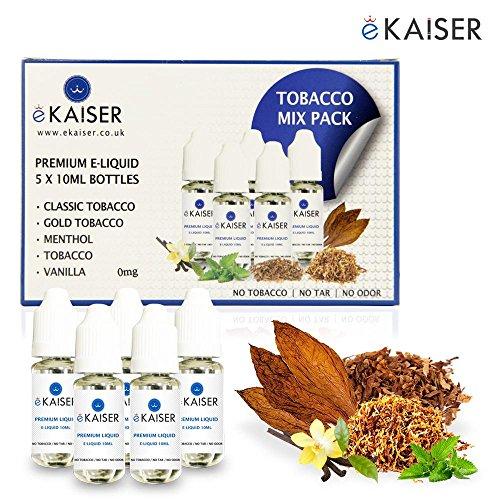 Ekaiser 5 e-líquidos 10 ml Paquete tabaco | Tabaco