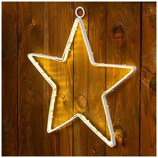 Stella Luminosa Di Natale.Importex Stella Di Natale Luminosa A Led Bianco 60 Luci Diametro 26