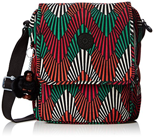 Kipling , Borsa Messenger Uomo, Mehrfarbig (Tropic Palm Combo Teagan 29J) (Multicolore) - K64592