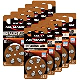 ANSMANN Hörgerätebatterien 312 Braun 60 Stück -...