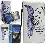 Dooki, HTC Desire 530 Hülle, Flip PU Leder Ständer